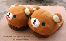 New Cute San-X Rilakkuma Relax Bear Cosplay Plush Warm Indoor Shoes Slippers