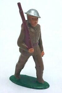 BARCLAY 777 Soldier Under Marching Orders Lead Toy - Made In USA VGC