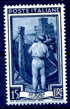 ITALIA 1955 - ITALIA AL LAVORO STELLE  Lire 15  NUOVO **