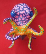 Mexican Folk Art Fantastic Colorful Papier Mache Purple Octopus