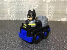 Fisher Price Little People Batmobile Batman Car bat sounds truck With Batman