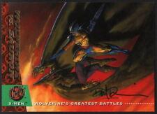 Dave DeVries SIGNED X-Men Art Trading Card ~ Wolverine Sauron 1994 Fleer Ultra