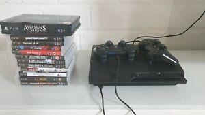 PS3 | Sony Playstation 3 Slim Konsole160 GB | 2 Controller | 11 Spiele