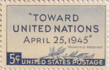 1945 Towards United Nations 5 Cents US Postage Stamp