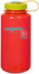 Nalgene Sustain Water Bottle - 32oz, Wide Mouth, Pomegranate