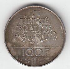 MONNAIE 100  FRANCS  LA FAYETTE   EN ARGENT  1987   SYLVER COIN  2