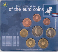First official issue of the euro coins Netherlands / Niederlande / Holland