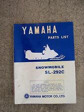*1972 Yamaha Sl-292C Snowmobile Illustrated Parts List More Sno-Mo In Store V