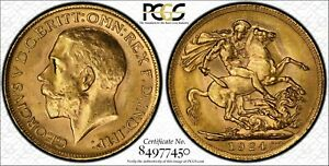 1924P Sovereign in PCGS MS62