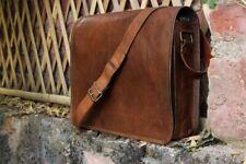 Large Vintage Rustic Durable Men Satchel Handbag Suitcase Crossbody Brown Bag