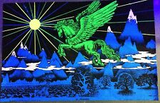 VINTAGE 1972 BLACKLIGHT POSTER -EL PEGASUS- HOUSTON BLACKLIGHT -40X26""