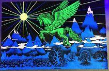"VINTAGE 1972 BLACKLIGHT POSTER -EL PEGASUS- HOUSTON BLACKLIGHT -40X26"""