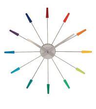 Horloge murale Nextime Pluginn Design Multicolore Métal Ø 58 cm 2610di