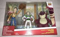 Toy Story Woody Buzz & Lotso Bear 3 Figure Pack Andys Imagination Disney NEW!