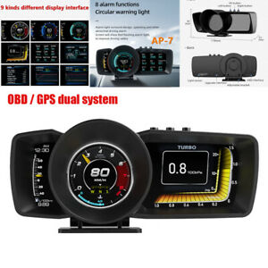 Car SUV HUD Head-up Display OBD GPS Dual System Driving Computer Modified LCD