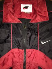 Vintage NIKE Swoosh Mens Windbreaker Vented Nylon Jacket Color Block XL