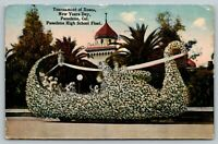 Pasadena California~Tournament of Roses Parade~High School Swan Float~1915 PC