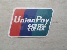 QUALITY UNION PAY STICKER 8cm BANKSY SUPREME SKATEBOARD CARHARTT OBEY VANS KENZO
