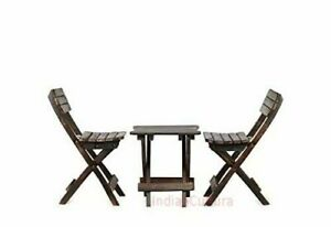 """New Indien Child""""s Folding Table Solid Wood Chair ( 2 Pcs Chair , 1 Pcs Table )"""