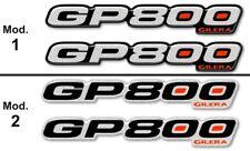 2 ADESIVI resinati GP 800 SCRITTE 3D COMPATIBILI per SCOOTER GILERA GP800 Silver