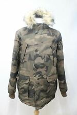 SUPERDRY Men's Rescue Army Camouflage Hooded Padded Parka Winter Jacket M