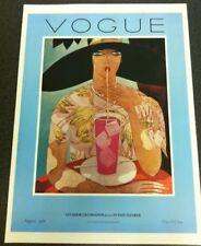 Vintage Vogue Magazine Poster August 1,1926 Authorised 1970's Reprint 39x28cm 20