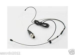 Black dual ear Headset Head Microphone Mic for Shure Wireless Mini XLR 4pin TA4F