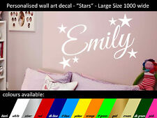 Personalised Wall Art - name decal - Stars - Large 1000x560mm