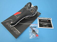 New Prologo Choice V-MAX Ti Rail Saddle / Seat (Black) (White Shell)