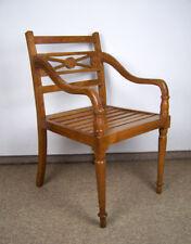 Armlehnstuhl Stuhl Bürostuhl Holz Kirschbaumton Jugend-Stil