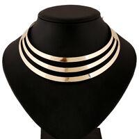 Mode Frauen Hohle Choker Verein Partei Mehrschichtige Halskette Punk Halske S5H6