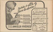 Y7330 Conserves Amieux-Frères - Pubblicità d'epoca - 1919 Old advertising