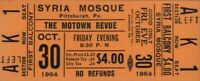 THE SUPREMES / MARVIN GAYE 1964 MOTOWN REVUE UNUSED SYRIA MOSQUE TICKET / No. 4