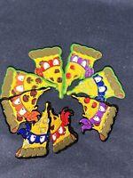 Tmnt Pizza Pals Enamel Pin Set. All Four Ninja Turtles + Ooze Variants