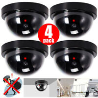 4 Pack Dummy Bullet Dome Surveillance Security Camera LED Sensor Record Light