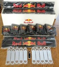 Lot of New Red Bull 4 Bar Mats, 6 Aprons, 10 Bottle Openers, 1 USB Flash Drive