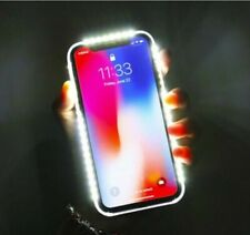 WHITE LED Light UP Selfie Phone Case Cover For Apple iPhone 6 7 8 Plus X XS MAX