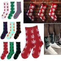 Men's Women's Leaf Cotton Marijuana Weed Ankles High Sock Casual Socks #