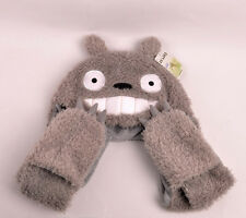New  My Neighbor Totoro Soft Plushie Scarf Hat Glove set 3 for birthday gift