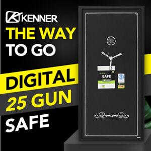 KENNER 25 GUN SAFE FIREARM RIFLE STORAGE STEEL HEAVY DUTY CABINET