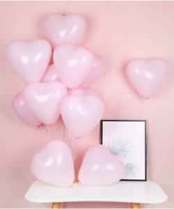 """10pcs 12"""" Valentine's Day Party Macaron Pastel Pink Heart Latex Balloon Bouquet"""