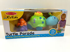 NIB Melissa & Doug Turtle Parade Roll Along Wind Up 9+ Toy NEW