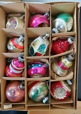 Lot of 76 Vintage Glass Christmas Ornaments Various Shapes