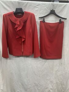 TAHARI BY ARTHUR LEVINE SKIRT SUIT/RED/SIZE 18/LINED/RETIAL $320/