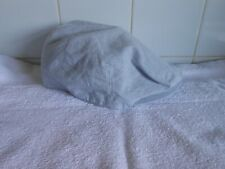 M&S Mens 100% Cotton/Linen BLUE/WHITE FLAT CAP UK M 7 - 7 1/8 £27.50  BNWOT