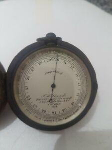 Pocket barometer J H Steward compensated antique