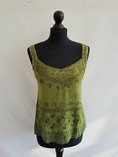 Rayon and Lace Hippie Boho Ladies Summer Top Embroidery Smocked Back 10 12 14 16