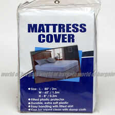 Mattress COVER Queen Size Fitted Plastic Bed Protector Anti Bed Bug/Allergy H042