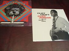 CLIFF JORDAN CLIFF CRAFT BLUE NOTE 1582 & SOUL FOUNTAIN VORTEX/RHINO RECORDS