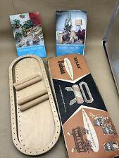 Vintage Craft Set Basketry Atlas Handicrafts Planter Woven Kit 1960s Duobases